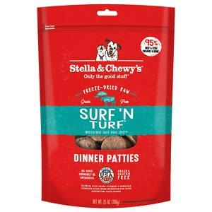 Stella & Chewy's Surf 'N Turf Dinner Patties Freeze-Dried Raw Dog Food