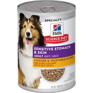 Hill's Science Diet Adult Sensitive Stomach & Skin Chicken & Vegetable Entrée Canned Dog Food