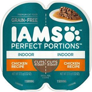 Iams Perfect Portions Indoor Chicken Recipe Grain-Free Cuts in Gravy Wet Cat Food Trays