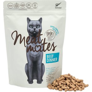 Meat Mates Beef Dinner Grain-Free Freeze-Dried Cat Food