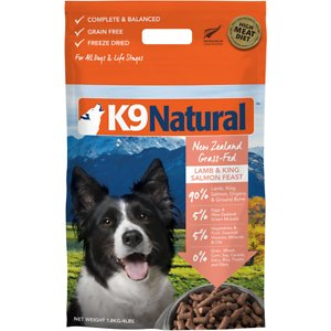 K9 Natural Lamb & King Salmon Grain-Free Freeze-Dried Dog Food