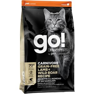 Go! Solutions Carnivore Grain-Free Lamb + Wild Boar Recipe Dry Cat Food