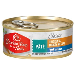 Chicken Soup for the Soul Chicken & Turkey Recipe Adult Pate Canned Cat Food