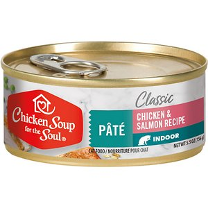 Chicken Soup for the Soul Indoor Chicken and Salmon Recipe Pate Canned Cat Food