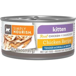 Simply Nourish Essentials Tender Chicken Recipe Kitten Chunks in Gravy Canned Cat Food