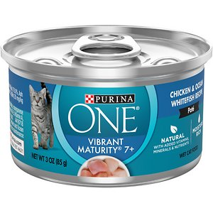 Purina ONE Vibrant Maturity 7+ Chicken & Ocean Whitefish Recipe Pate Wet Cat Food