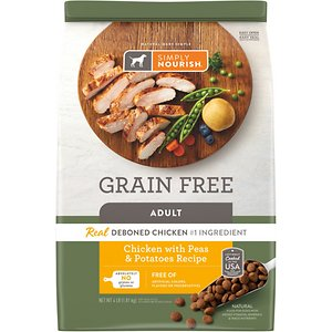 Simply Nourish Grain-Free Chicken with Peas & Potatoes Recipe Adult Dry Dog Food