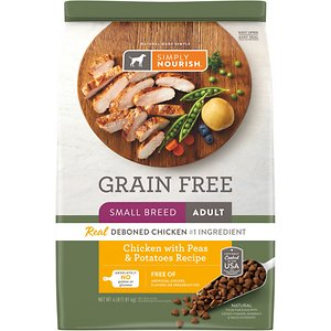 Simply Nourish Grain-Free Chicken with Peas & Potatoes Recipe Small Breed Adult Dry Dog Food