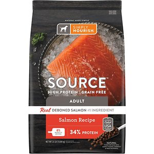 Simply Nourish Source Salmon Recipe High-Protein Grain-Free Adult Dry Dog Food