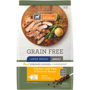 Simply Nourish Grain-Free Chicken with Peas & Potatoes Recipe Large Breed Adult Dry Dog Food