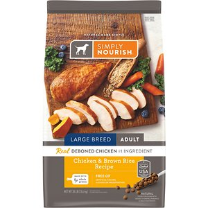 Simply Nourish Chicken & Brown Rice Recipe Large Breed Adult Dry Dog Food