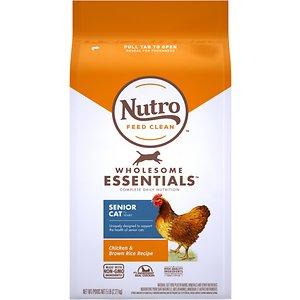 Nutro Wholesome Essentials Chicken & Brown Rice Recipe Senior Dry Cat Food