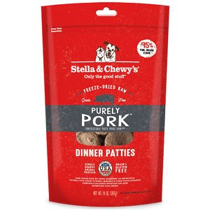 Stella & Chewy's Purely Pork Freeze-Dried Raw Dinner Patties Dog Food