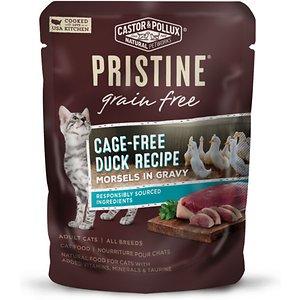 Castor & Pollux Pristine Grain-Free Cage-Free Duck Recipe Morsels in Gravy Cat Food Pouches