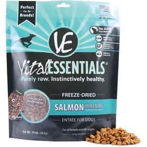 Vital Essentials Salmon Entree Mini Nibs Grain-Free Freeze-Dried Dog Food