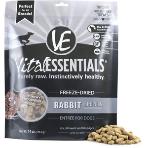Vital Essentials Rabbit Entree Mini Nibs Grain-Free Freeze-Dried Dog Food