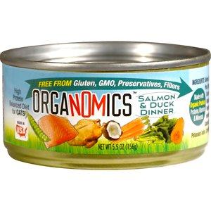 OrgaNOMics Salmon and Duck Dinner Organic Grain-Free Pate Wet Cat Food