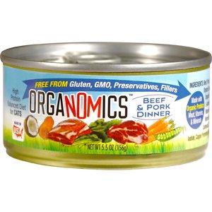 OrgaNOMics Beef & Pork Dinner Organic Grain-Free Pate Wet Cat Food