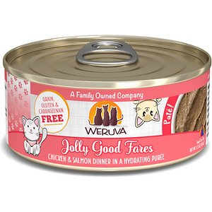 Weruva Classic Cat Jolly Good Fares Chicken & Salmon Pate Canned Cat Food