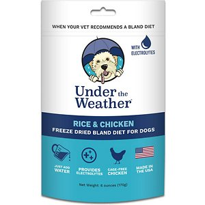 Under the Weather Rice & Chicken Flavor Freeze-Dried Dog Food
