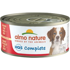 Almo Nature HQS Complete Chicken Stew with Beef Canned Dog Food