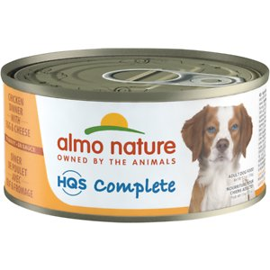Almo Nature HQS Complete Chicken Dinner with Cheese & Egg Canned Dog Food