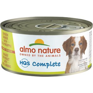Almo Nature HQS Complete Chicken Dinner with Pineapple & Egg Canned Dog Food