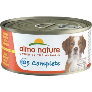 Almo Nature HQS Complete Chicken Dinner with Pumpkin Canned Dog Food