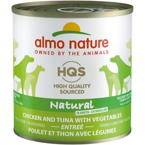 Almo Nature HQS Natural Chicken & Tuna with Vegetables Canned Dog Food