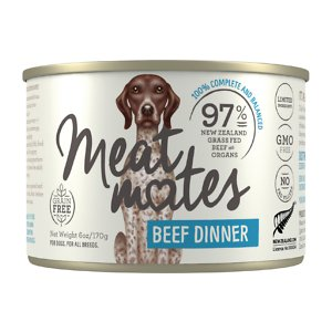 Meat Mates Beef Dinner Grain-Free Canned Wet Dog Food