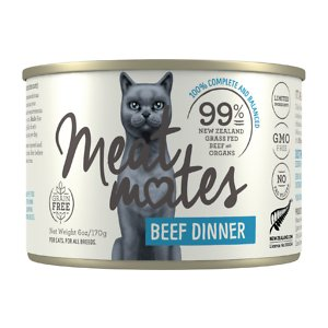 Meat Mates Beef Dinner Grain-Free Canned Wet Cat Food