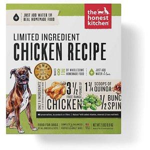 The Honest Kitchen Limited Ingredient Diet Chicken Recipe Grain-Free Dehydrated Dog Food