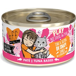 BFF Play Pate Lovers Tuna & Salmon Oh Snap Wet Cat Food