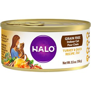 Halo Turkey & Duck Recipe Pate Grain-Free Indoor Cat Canned Cat Food