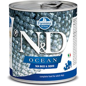 Farmina Natural & Delicious Ocean Seabass & Squid Canned Dog Food