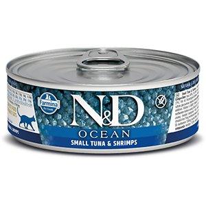 Farmina Natural & Delicious Ocean Small Tuna & Shrimps Canned Cat Food
