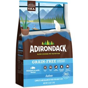 Adirondack Limited Ingredient Whitefish & Lentils Recipe Grain-Free Indoor Dry Cat Food