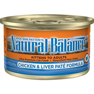 Natural Balance Ultra Premium Chicken & Liver Pate Formula Canned Cat Food