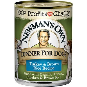 Newman's Own Dinner For Dogs Turkey & Brown Rice Recipe Canned Dog Food