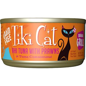 Tiki Cat Manana Grill Ahi Tuna with Prawns in Tuna Consomme Grain-Free Canned Cat Food