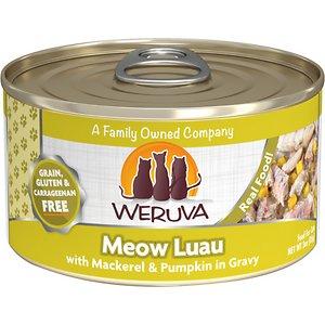 Weruva Meow Luau with Mackerel & Pumpkin Grain-Free Canned Cat Food