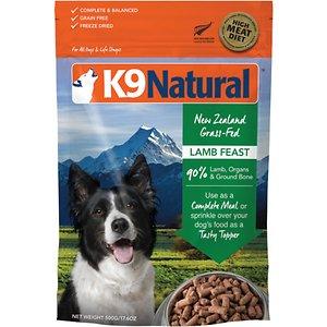 K9 Natural Lamb Feast Raw Grain-Free Freeze-Dried Dog Food
