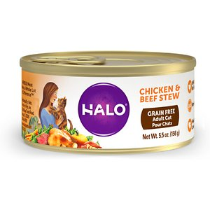 Halo Chicken & Beef Stew Grain-Free Adult Canned Cat Food