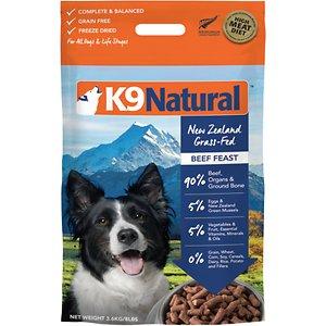 K9 Natural Beef Feast Raw Grain-Free Freeze-Dried Dog Food