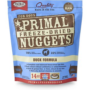 Primal Duck Formula Nuggets Grain-Free Raw Freeze-Dried Dog Food