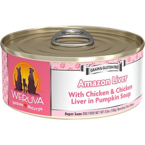 Weruva Amazon Liver with Chicken & Chicken Liver in Pumpkin Soup Grain-Free Canned Dog Food
