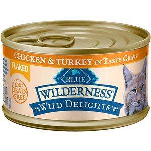 Blue Buffalo Wilderness Wild Delights Flaked Chicken & Turkey Grain-Free Canned Cat Food