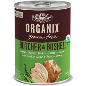 Castor & Pollux Organix Grain-Free Butcher & Bushel Organic Chopped Turkey & Chicken Dinner Adult Canned Dog Food