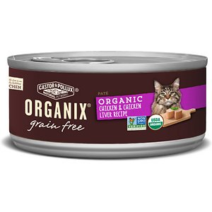 Castor & Pollux Organix Grain-Free Organic Chicken & Chicken Liver Recipe All Life Stages Canned Cat Food