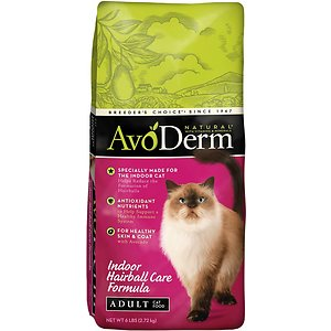 AvoDerm Natural Indoor Hairball Care Formula Adult Dry Cat Food